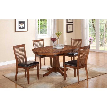 Winners Only Oval Pedestal Dining Table with 18 in. Butterfly Leaf