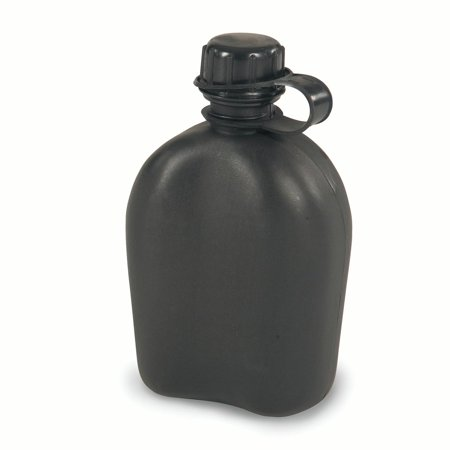 Stansport Plastic Canteen - 1 QT - Black