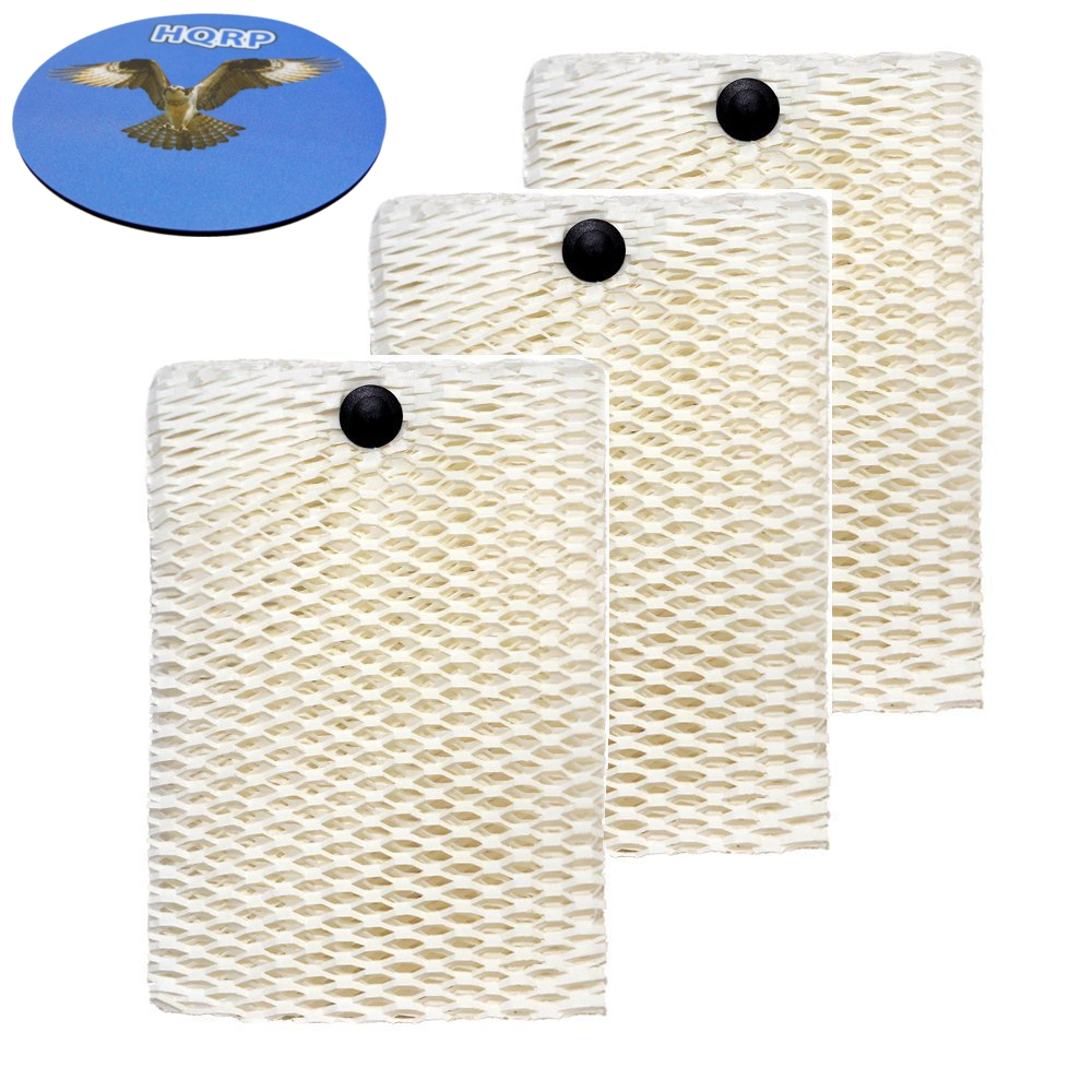 HQRP 3-Pack Wick Filter for Sunbeam Humidifier HWF100, SF235 Replacement + HQRP Coaster
