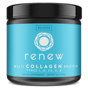 RENEW Multi Collagen Protein Powder - Premium Blend of Hydrolyzed Grass-Fed Bovine, Marine