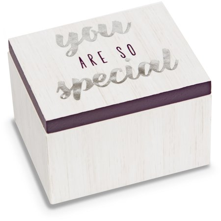 Pavilion - You Are So Special - Purple & White Wood Patterned Mini Keepsake Jewelry Box 2.25 (Best Cool Box Uk)
