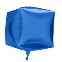 Balloons & Weights 4873Blue 3-D Square Cube Foil Mylar Balloons, Blue - 25 Piece
