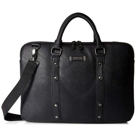 Kenneth Cole Reaction 023572486768 539075OM Slim Double Gusset Case for 16-inch Laptops - Black