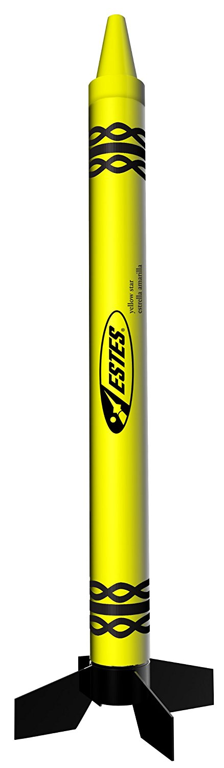 Yellow Star Crayon Rocket..., By Estes Ship from US by