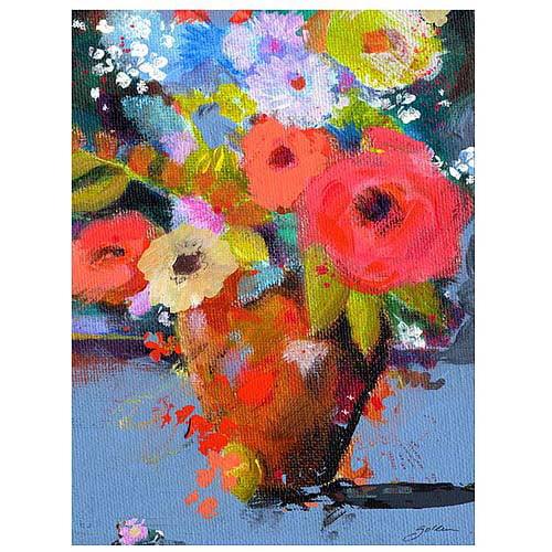 """Trademark Art """"Bouquet for Monica"""" Canvas Art by Sheila Golden"""