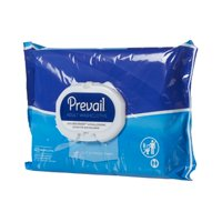 Prevail Adult Washcloths with Press-n-Pull lid, 8 X 12 Inch, 48 Count, 6 Pack