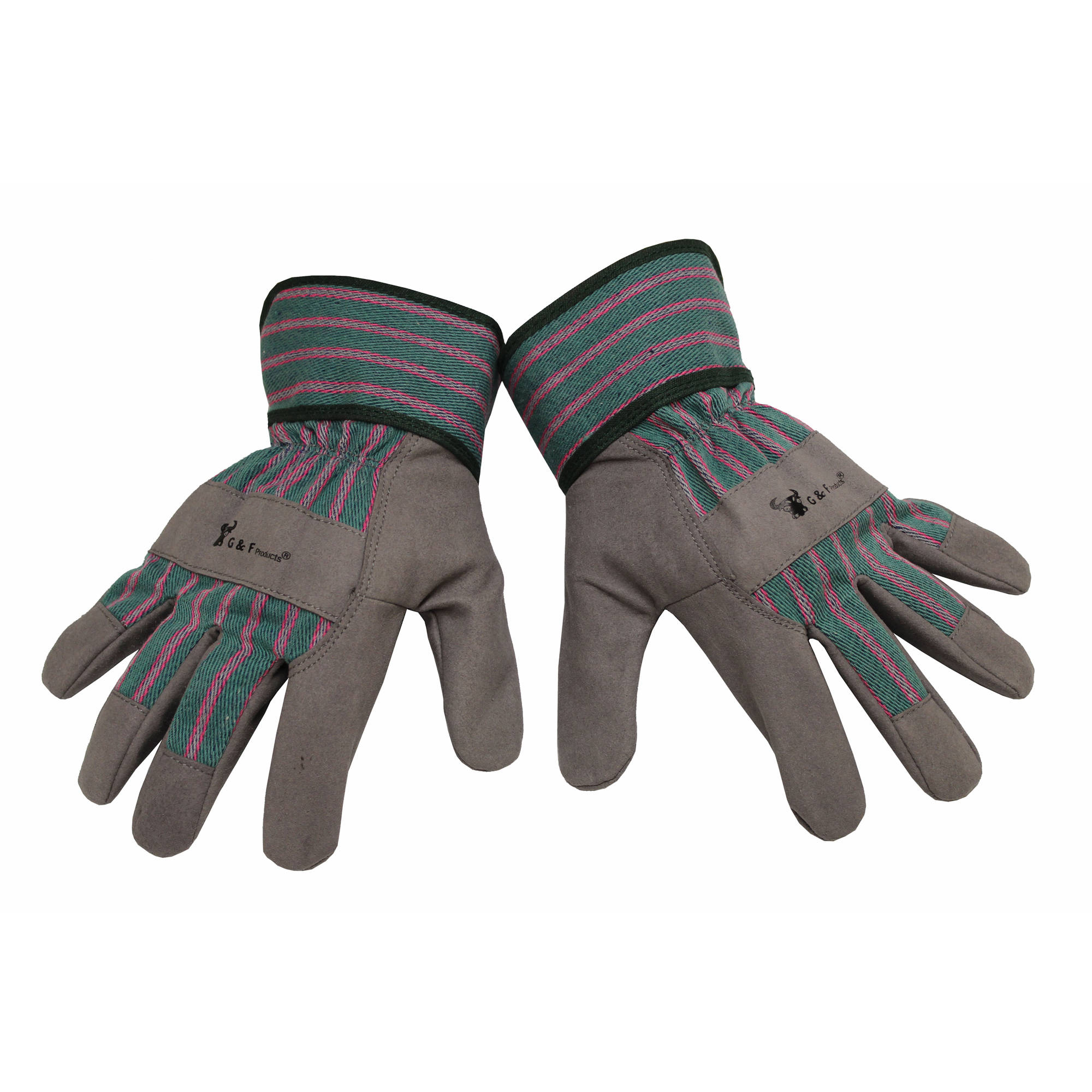 G & F Children's Work Gloves, Gray