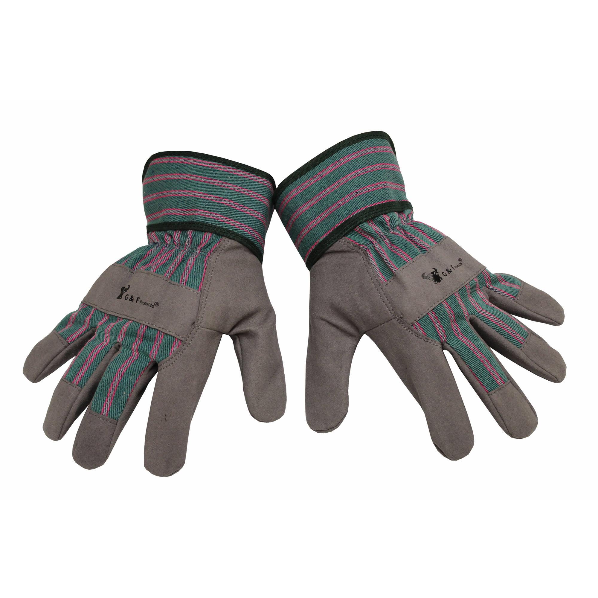 G & F Children's Work Gloves, Gray