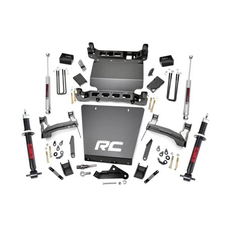 Bronco 4wd Front Lift - Rough Country - 291.23 - 5-inch Suspension Lift Kit w/ Premium N3 Struts & Shocks for Chevrolet: 14-18 Silverado 1500 4WD; GMC: 14-18 Sierra 1500 4WD