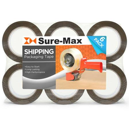 Sure-Max Premium Carton Packing Tape 2.0 mil 165 Feet (55 yards) - Brown / Tan