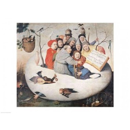 The Concert in The Egg Poster Print by Hieronymus Bosch - 36 x 24 in. - Large - image 1 of 1
