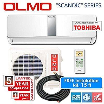 Olmo Toshiba Compressor 9 000 Btu 115v 60 Hz Ductless Mini Split System 15 Seer