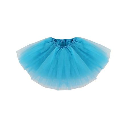 Girl Classic Elastic Shining Pettiskirt Tulle Tutu Skirt,Peacock Blue