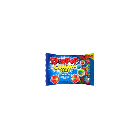 Ring Pop Gummy Gems Candy Assorted Flavors, 3.7 oz