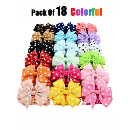 - Fascigirl 18PCS Colorful Baby Girls Grosgrain Ribbon Hair Bows Clips Fashion Cute Flowers Headbands Hair Bands Hair Accessories Photo Props for Baby Toddler Newborn Infants Kids Child Girls