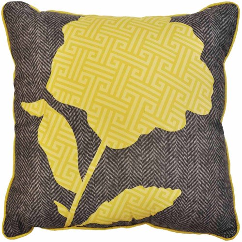 Yellow Decorative Bed Pillows : Yellow Flower Decorative Pillow - Walmart.com