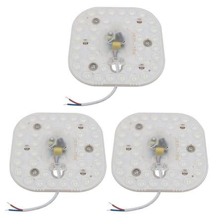 3pc AC185-265V 18W rond lentille optique LED Plafond Module lampe 36-LED 6500K - image 3 de 3