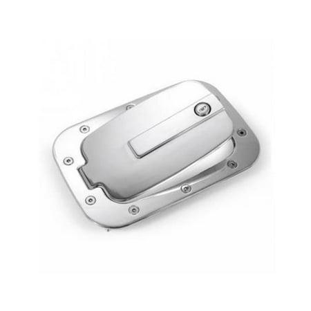 All Sales 6158CL Race Style Billet Fuel Door, Chrome - Rectangle Chrome Logo Door Sills