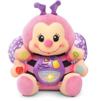 VTech Touch and Learn Musical Bee, Plush Crib Baby Toy, Pink