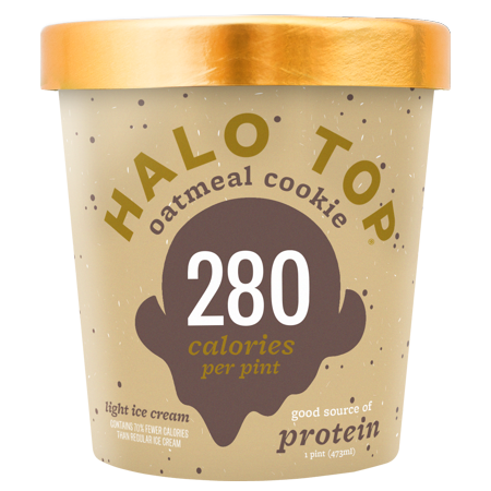 Ice Cream Mini Button - Halo Top Creamery Ice Cream, Multiple Flavors Available, Case of 8 Pints