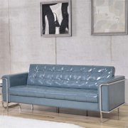 Flash Furniture HERCULES Lesley Series Contemporary Gray LeatherSoft Sofa with Encasing Frame