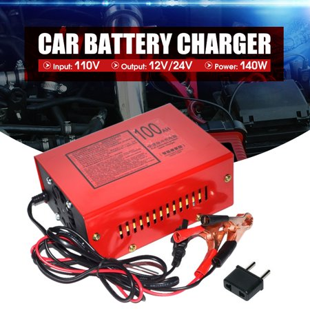 - 110V Full Automatic Electric Car Lead Acid Battery Charger 12V/24V Output 175*130*70mm