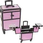 Sunrise E6304DMPLB Purple/Bk Dmd Rolling Beauty Case -E6304