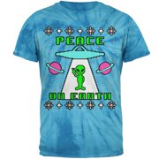 Alien Peace on Earth Ugly Christmas Sweater Mens T Shirt