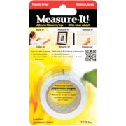 Intertape MIT32 Adhesive Measuring Tape, 1 in W x 32 ft L Blade