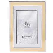 Silver and Gold 4x6 Metal Picture Frame
