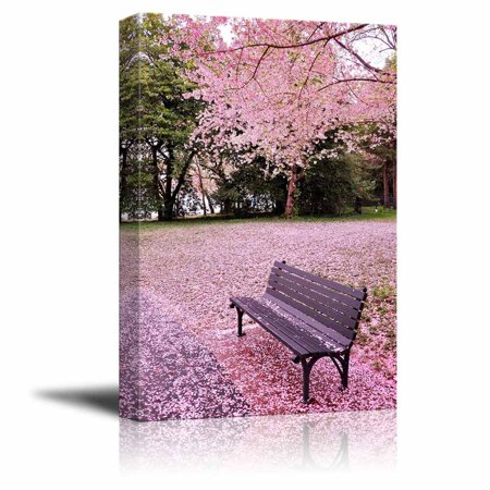 """Canvas Prints Wall Art - Beautiful Scenery/Landscape of Cherry Blossom in Spring 