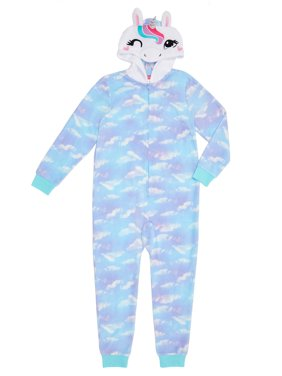 Saint Eve Hooded Pajama Blanket Sleeper Onesie (little girls and big girls)