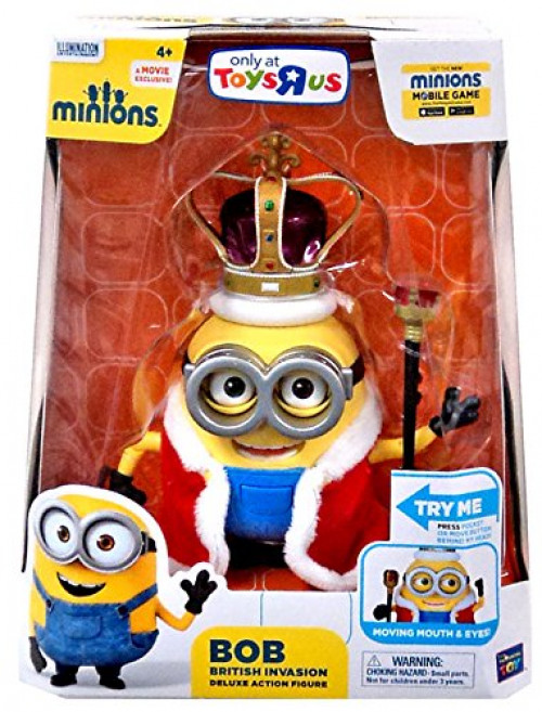 Minions Bob British Invasion Deluxe Action Figure (20195) by Thinkway Toys by Think Way Toys