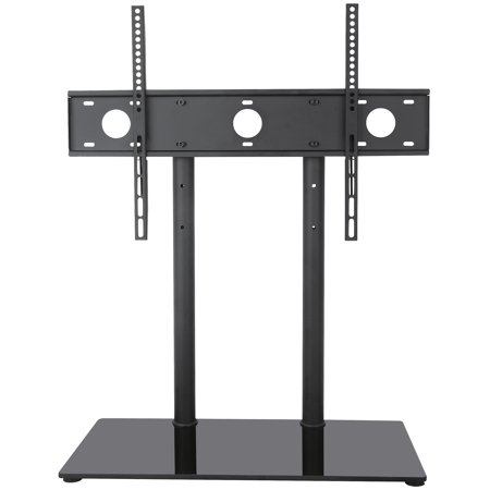 """VIVO Black Universal Economic 32"""" to 65"""" LCD Flat Screen TV Table Top Stand 