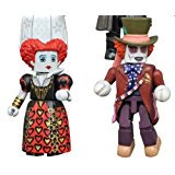Alice Through Looking Glass Minimates Series 1 Mad Hatter & Red - Mad Hatter And Red Queen Costumes