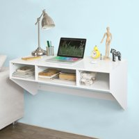 Haotian Wall-mounted Table Desk,Home Office Desk Workstation,FWT14-W,White