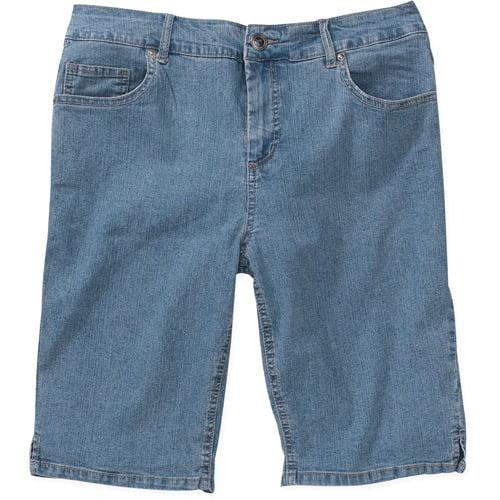 Just My Size Women's Plus-Size Classic Denim Bermuda Shorts