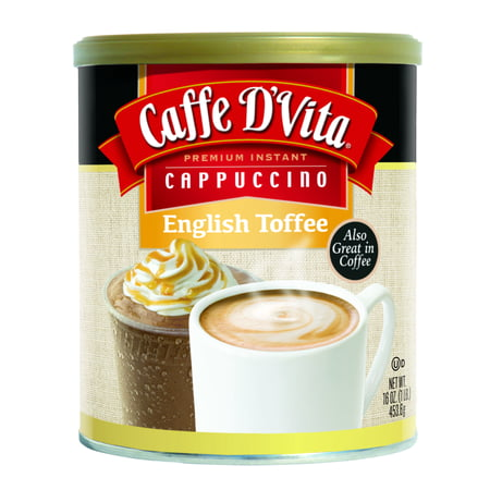 Soy Toffee (Caffe D'Vita Drink Mix, English Toffee Cappucino, 16 Oz, 1 Count )