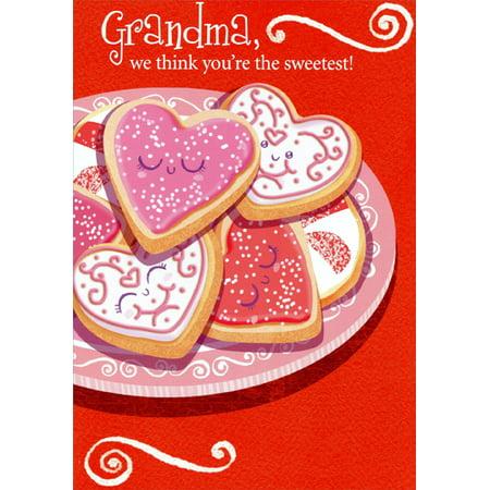 Designer Greetings Heart Shaped Cookies: Grandma From Grandkids Valentine's Day Card