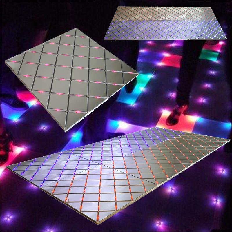 "8 PCS Illuminated Mirror LED Party Dance Floor - 24"" Wide x 24"" Long"