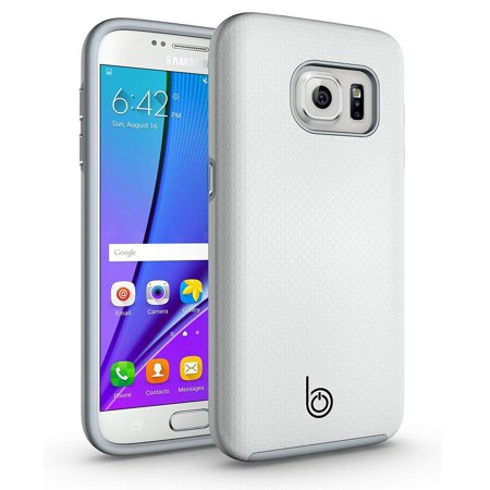 Slim Impact Protection Grip Case for Samsung Galaxy S7 G930(Dual Layer + Shock-Absorbing) - Pearl White