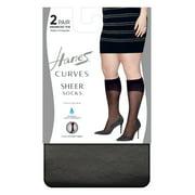 Hanes  Hanes Curves Sheer Socks 2-Pack