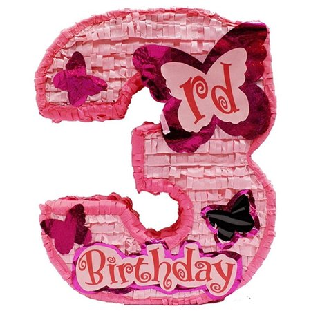 Girls Third Birthday Pinata for $<!---->
