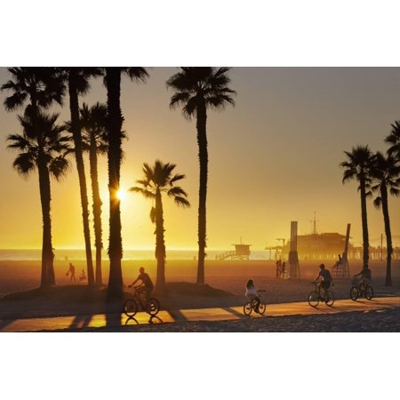 The South Bay Bicycle Trail at Sun Set. Print Wall Art By Jon (Best Bike Trails In Bay Area)