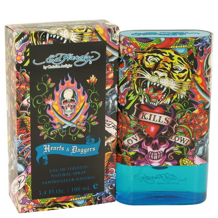 Christian Audigier Ed Hardy Hearts & Daggers Eau De Toilette Spray for Men 3.4 oz