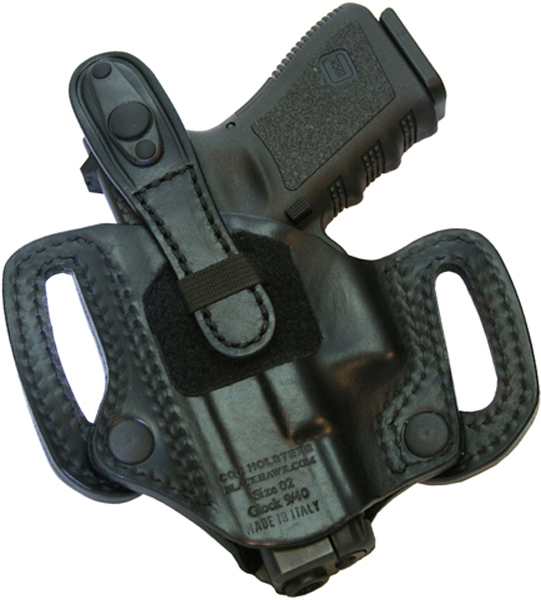 Image of BlackHawk Leather Detachable Belt Slide Thumb Break Concealment Holster