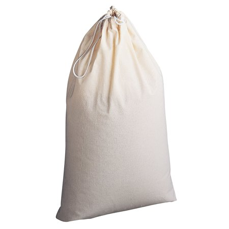 Household Essentials Extra Large Natural Cotton Laundry Bag, Beige ()