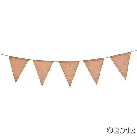 Burlap Triangle Pennant Garland- Small - Burlap Garland