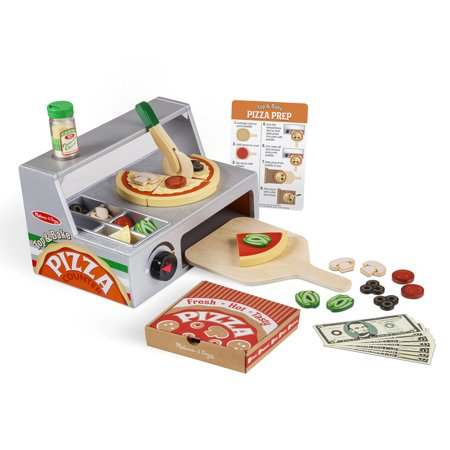 Melissa & Doug® Top & Bake Pizza Counter - Wooden Play Food ()