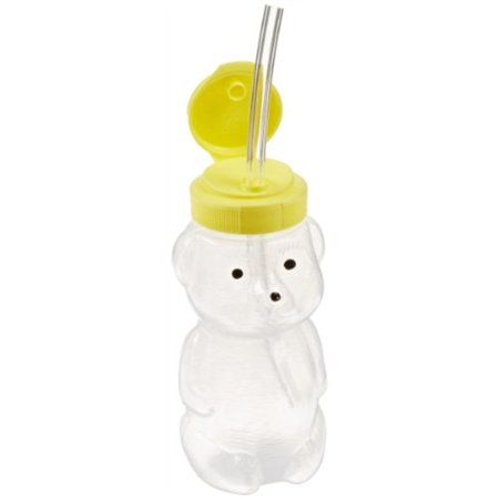 Abilitations Speech Bin Mr Juice Bear Straw Drinking Teaching Cup with Three Straws - Chicago Bears Cups